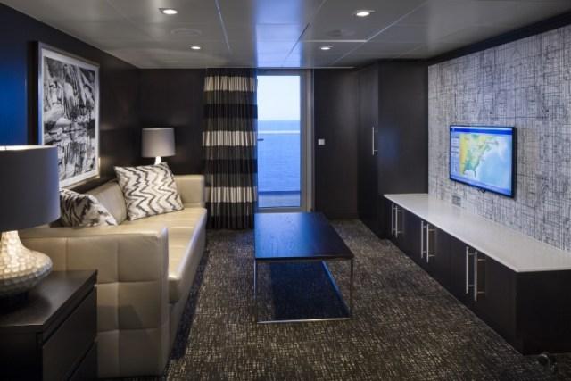 Royal Caribbean Anthem of the Seas royal loft suite living space