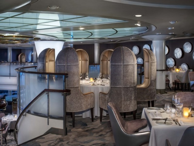 Celebrity Cruises Millennium Metropolitan Restaurant table
