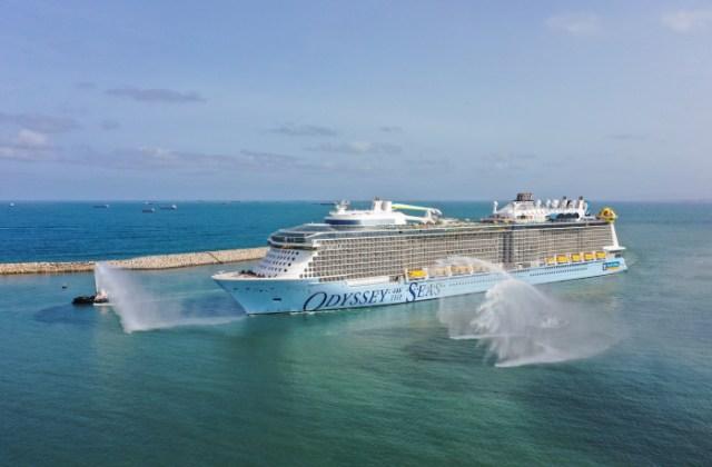 royal caribbean odyssey of the seas water salute