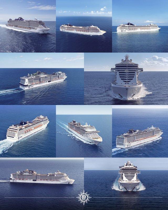 MSC Cruises 10 cruise ships sail Europe summer 2021