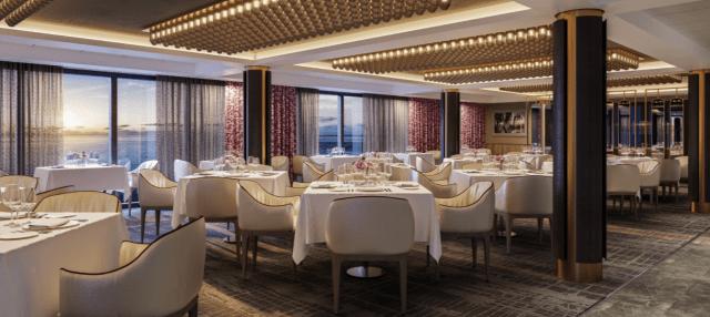 Norwegian cruise line dining room