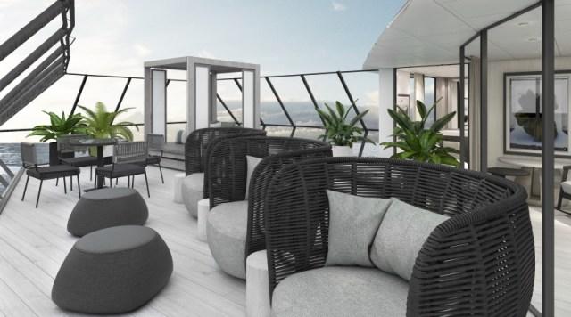 Celebrity Cruise Beyond cruise ship outdoor lounge