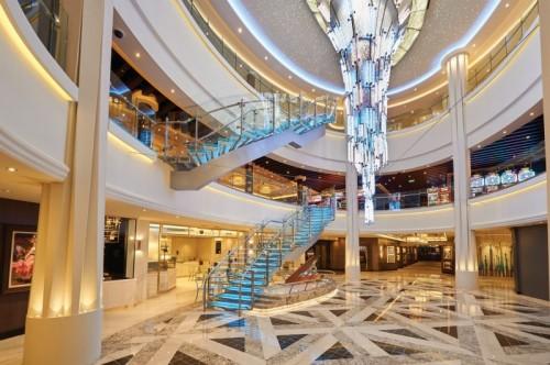 Norwegian Cruise Line Bliss atrium