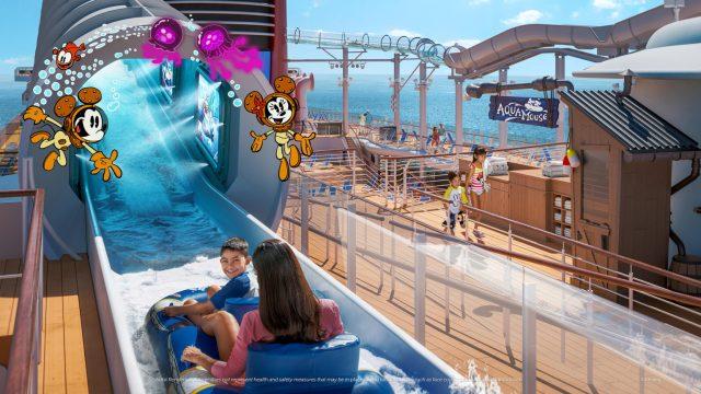 Disney Cruise Line Wish cruise ship Aquamouse waterslide