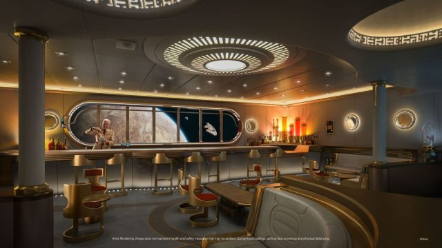 Disney Cruise Line Wish cruise ship Star Wars lounge