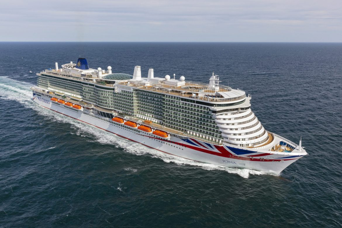 P&O Cruises Iona arrives in UK for naming ceremony