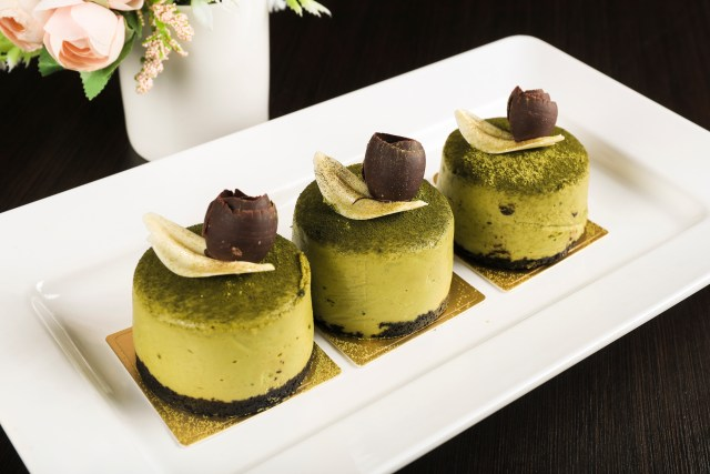 World dream cruise japan Matcha cheese cake