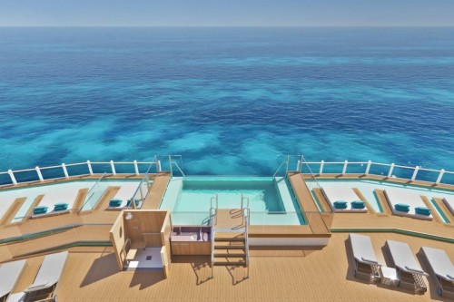 Norwegian cruise line prima norwegianprima oceanboulevard infinity beach topview rendering