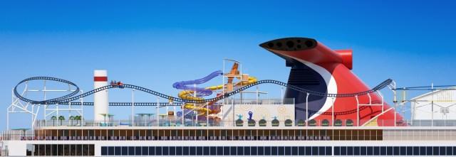 Carnival Mardi Gras Bolt rollercoaster by Maurer 4