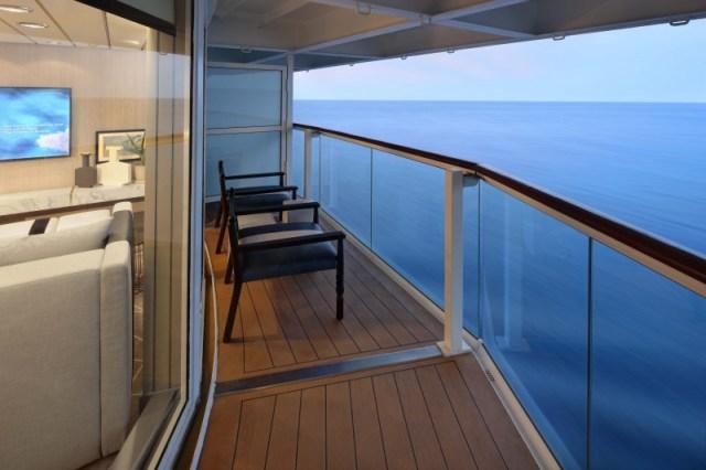 Celebrity Cruises suite balcony