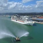 MSC Cruises Virtuosa cruise ship arrives in Southampton, UK