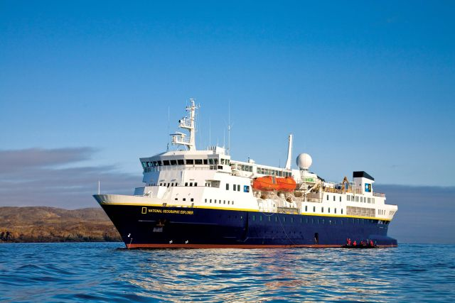 Lindblad Expeditions National Geographic cruise ship ship port side