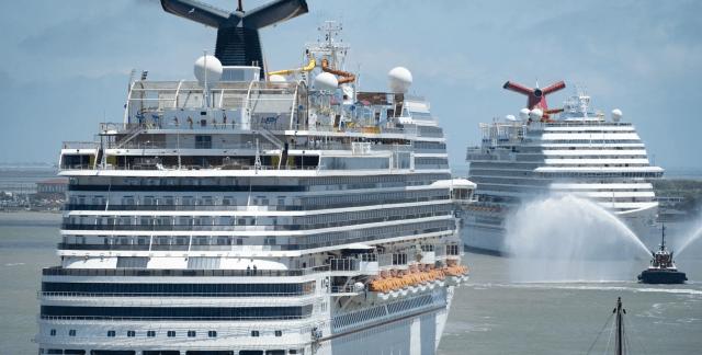 Carnival Vista and Carnival Breeze in Galveston Texas