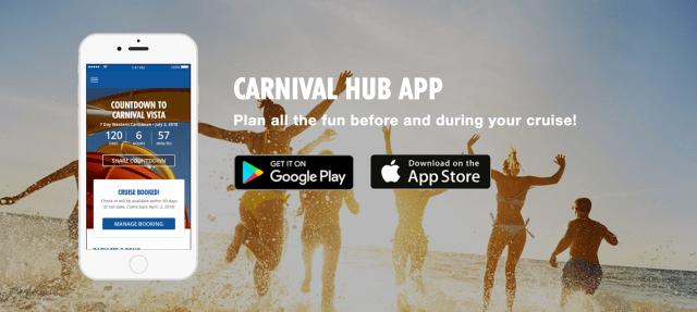 Carnival cruise line HUB app 4