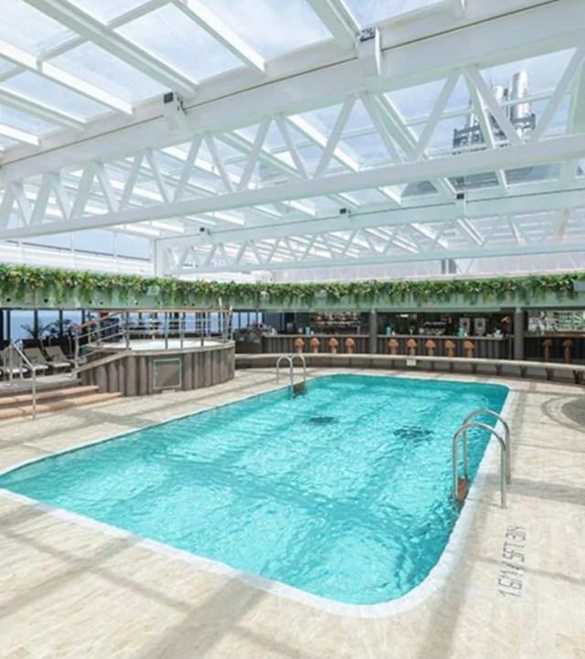 MSC Cruises seashore cool glass roof