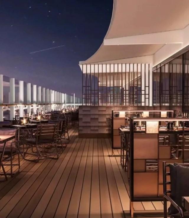 MSC Cruises lounge seashore