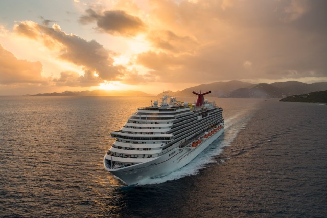 carnival breeze at sunset