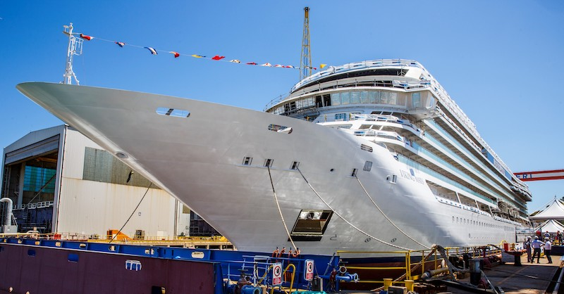 Viking Cruises new ship Viking Mars was floated out