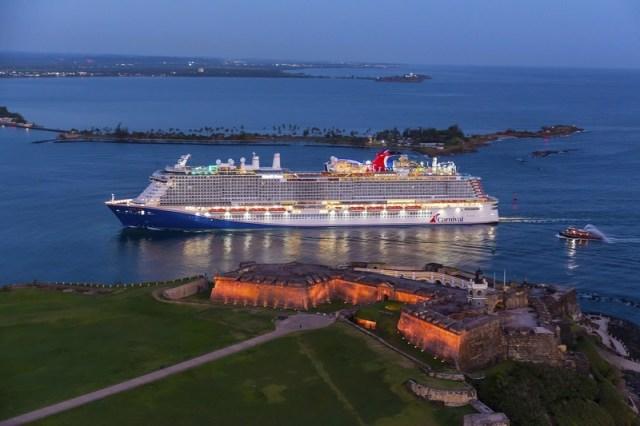 Carnival Cruise line Mardi Gras san juan puerto rico
