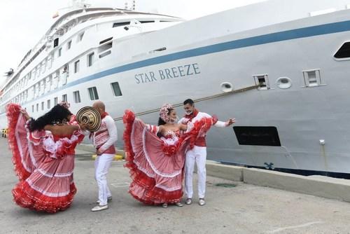 Windstar Star Breeze arrives in Colombia