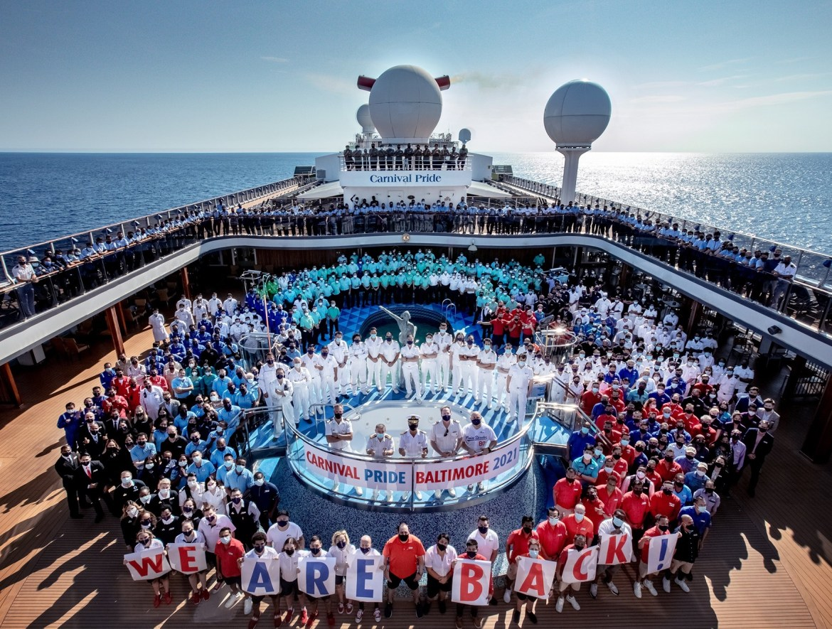 Carnival Pride departs from Baltimore to the Bahamas