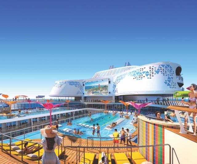 Royal Caribbean Wonder of the Seas pool deck