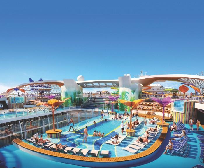 Royal Caribbean Wonder of the Seas aft pool deck