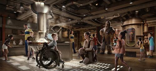 Disney Cruise Line Wish Star Wars cargo bay