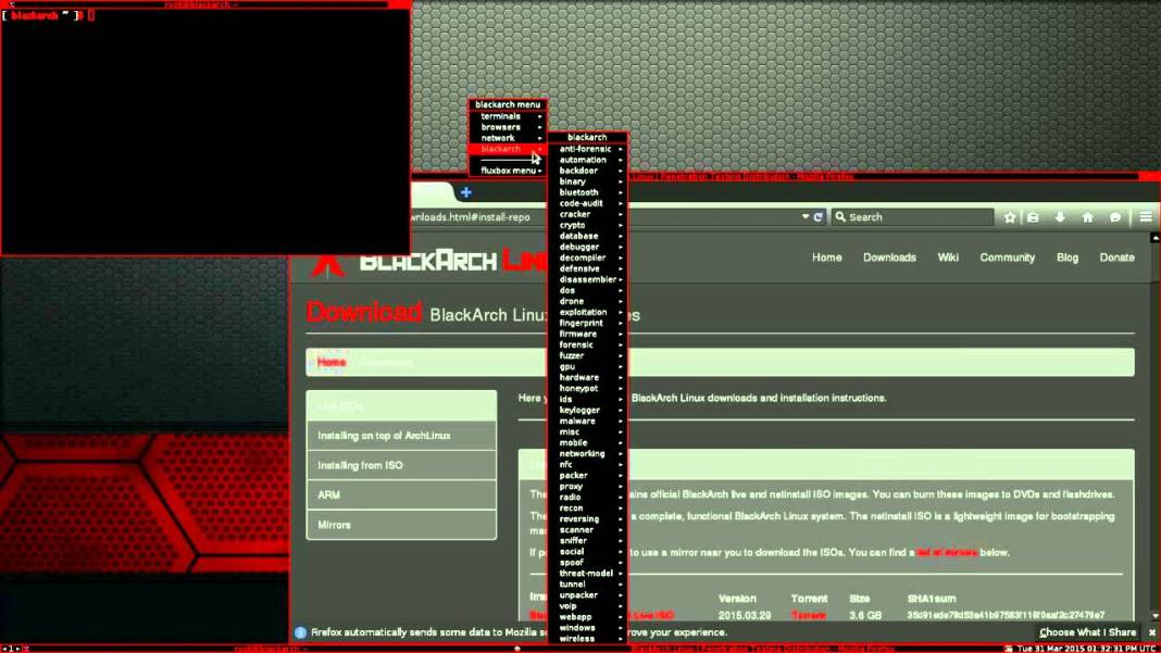 blackarch - Ethical Hacking Distro BlackArch Linux with 100+ New Tools