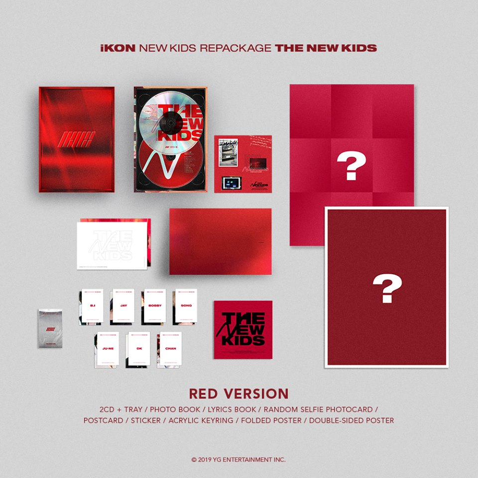 iKON releases 'NEW KIDS REPACKAGE' album packaging details