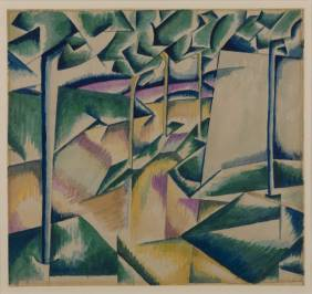 Landscape 1913 by Edward Wadsworth 1889-1949
