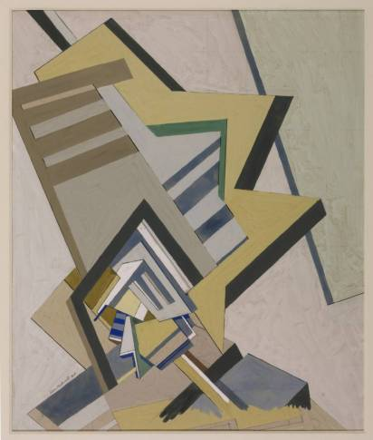 Abstract Composition 1915 by Edward Wadsworth 1889-1949