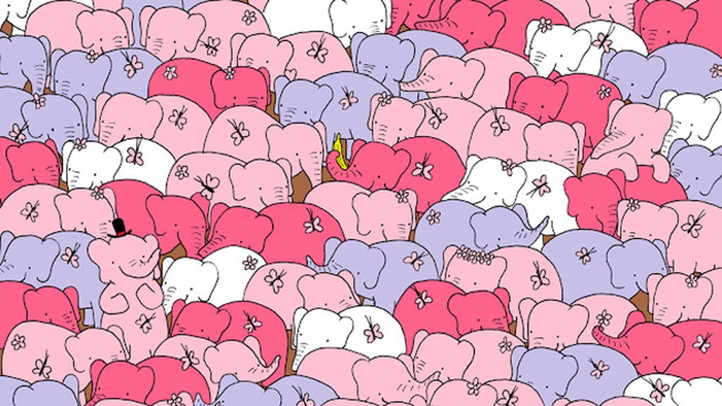 RETO VIRAL| Encuentra el corazón entre los elefantes