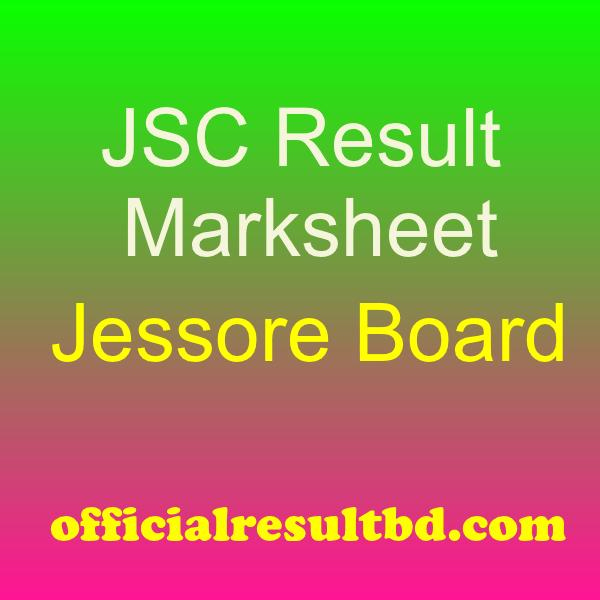 JSC Result Jessore Board Marksheet 2019