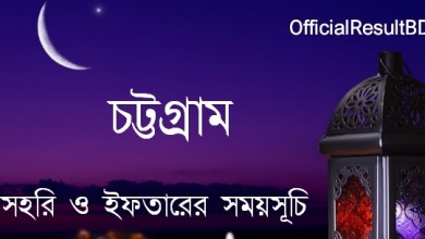 Ramadan Calendar 2021 for Chittagong PDF (Sehri and Iftar Time)