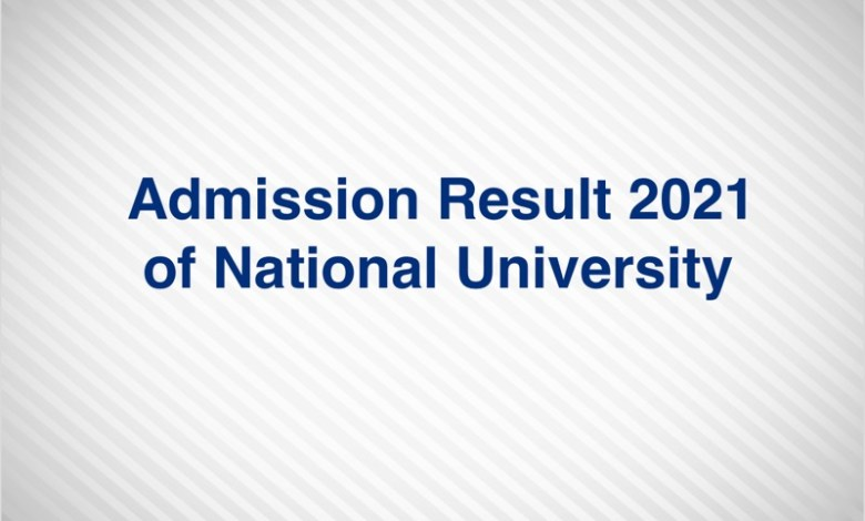Admission Result 2021 of National University Honours 1st Year www.nu.ac.bd/admissions 2020-21