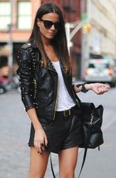 stud leather jacket