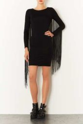 TopShop. Fringe Bodycon Dress.