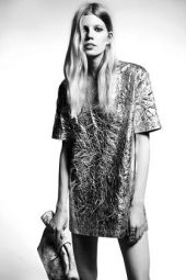 TopShop. Metallic Foil T-shirt Dress.