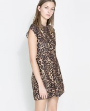 ZARA. Leopard Print Dress.