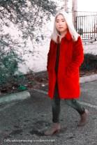 Red Fuzzy Coat