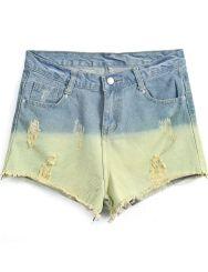 http://www.sheinside.com/Blue-Contrast-Green-Ripped-Denim-Shorts-p-163038-cat-1740.html