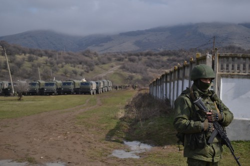 Russian troops in Crimea on March 9, 2014. Anton Holoborodko/Wikipedia photo