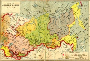 Map of the Soviet Union in 1929