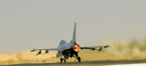 EA U.S. Air Force F-16 in Jordan on Oct. 19, 2011. Air Force photo