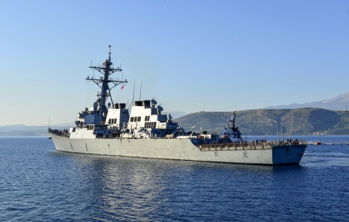 USS Mahan off the Greek coast on May. 1, 2013. Navy photo