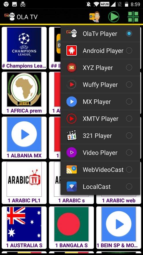 Screenshot-Ola TV Pro App Apk