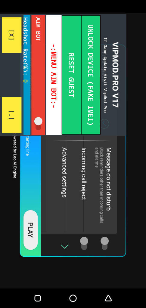 Screenshot Of VIP Mod Menu App