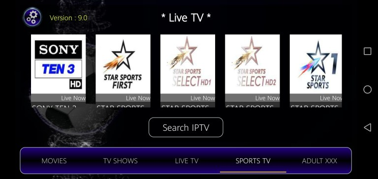Screenshot of Strix TV For Android
