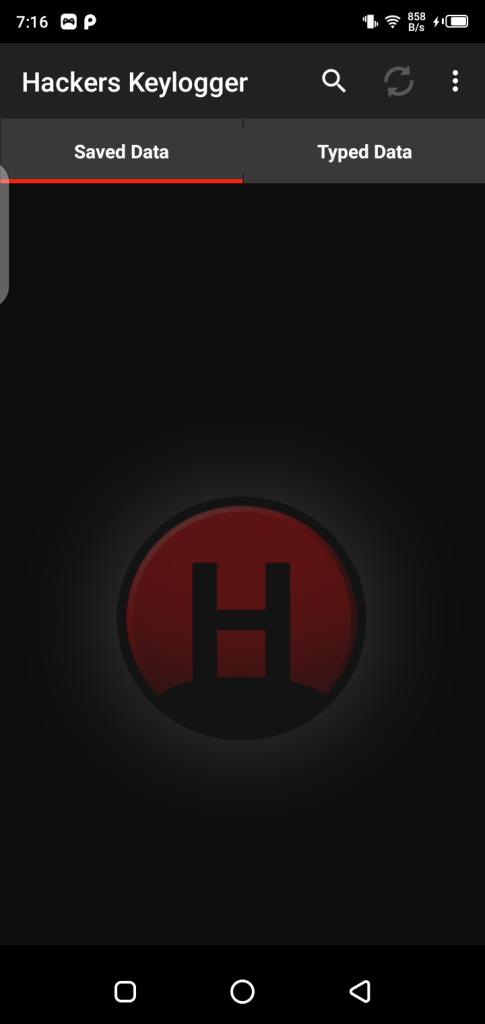 Screenshot of Hackers Keylogger Mod App